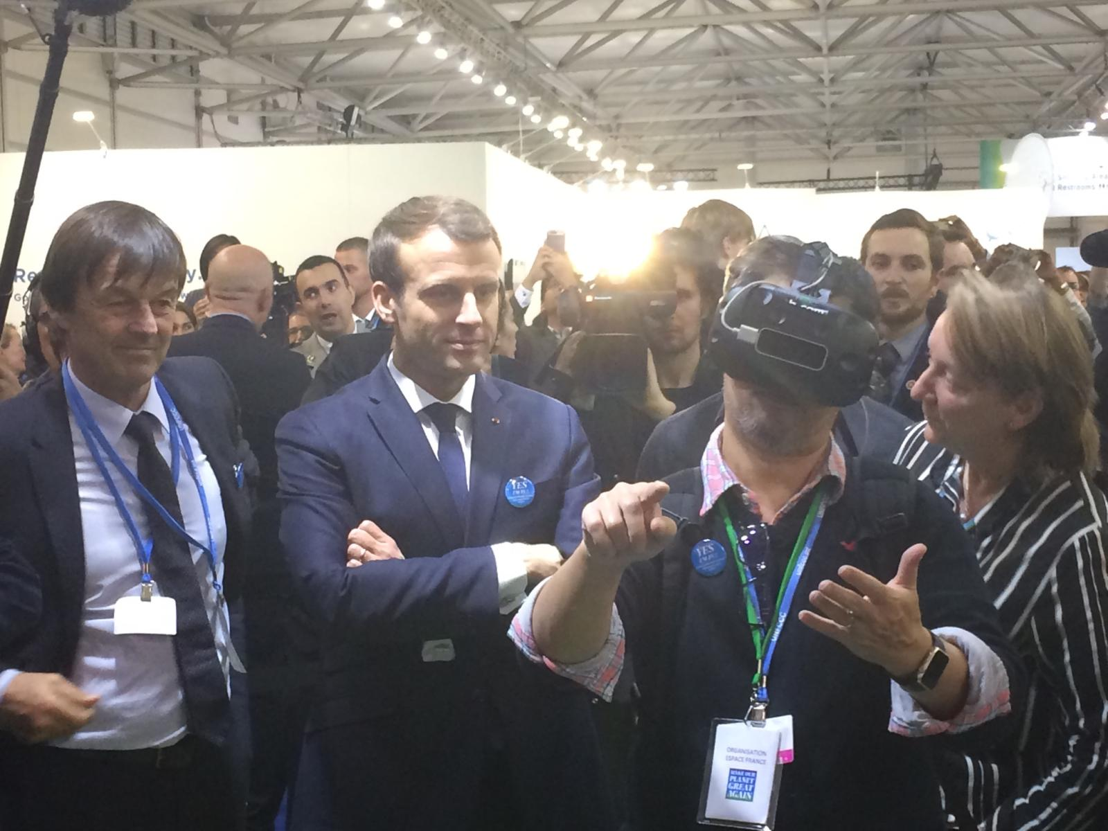 Decouverte-Arctic2100-Oceanopolis_President-Macron_1